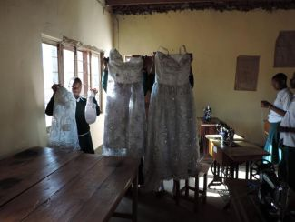Wedding dresses made in the Tailoring Course