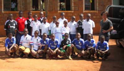 Jiho with Nyaishozi Primary School sponsored children