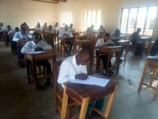 Students sitting their mock exams